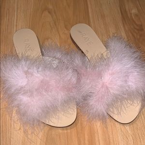 Raye the label fluffy sandals